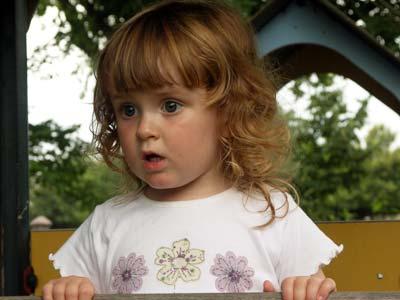 Fiona in a playground in Heerlen