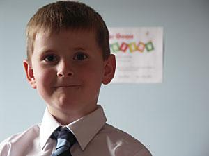 Alex in a tie