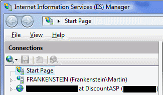 The right version of IIS Manager in Windows Vista: IIS Manager for remote administration