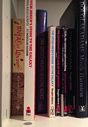 Rivers of London filed next to Douglas Adams