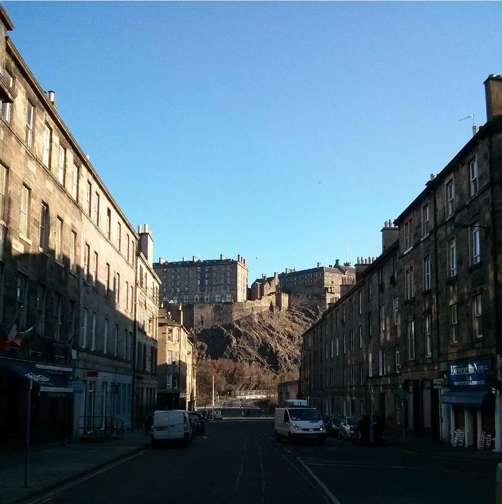 Edinburgh Castle from Bread Street