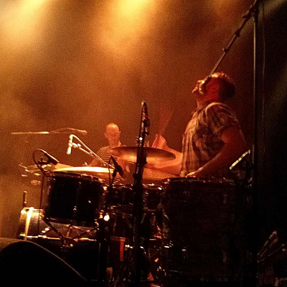 John Hamson Jr (Thumpers) on drums at Paradiso
