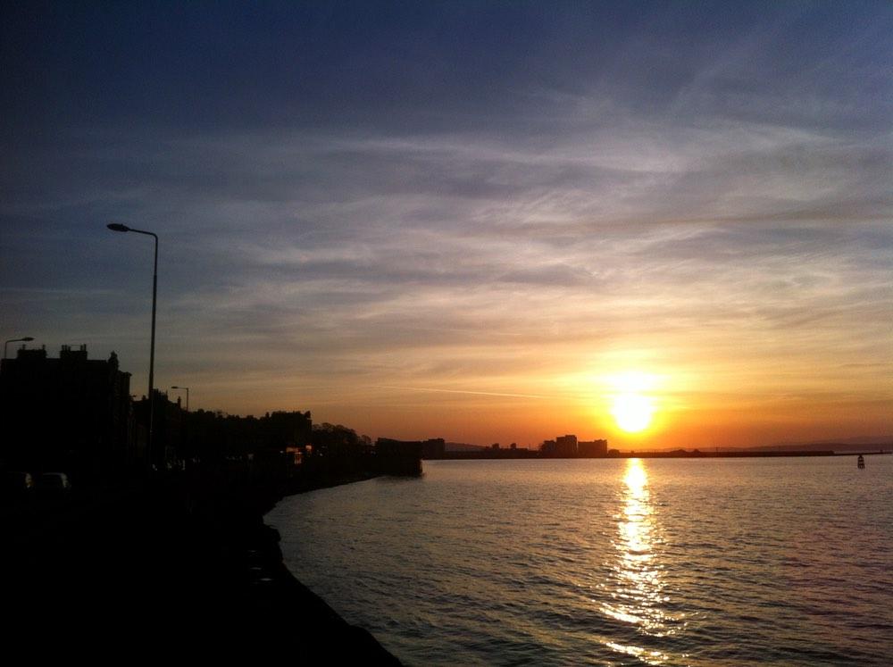 Granton Harbour at sunset
