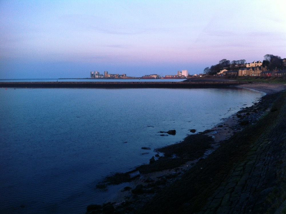 Granton Harbour at sunset