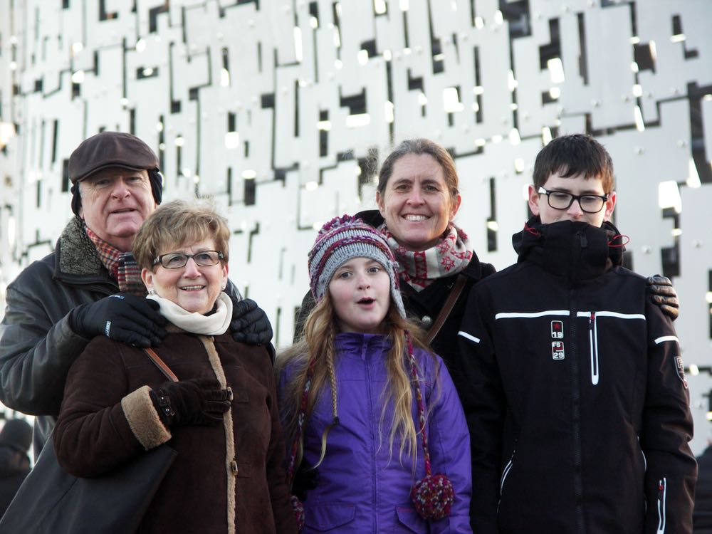 Sutherlands at the Kelpies