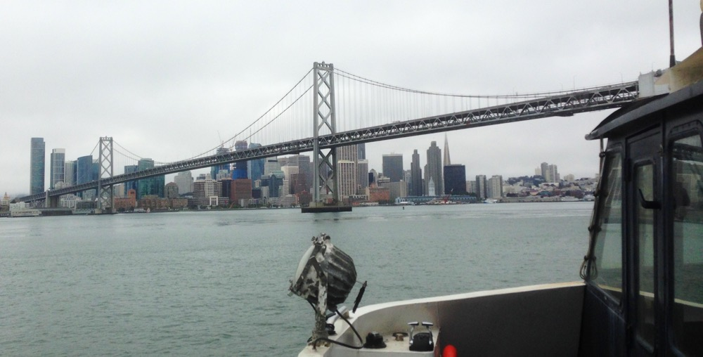 The best way to approach San Francisco - from the water