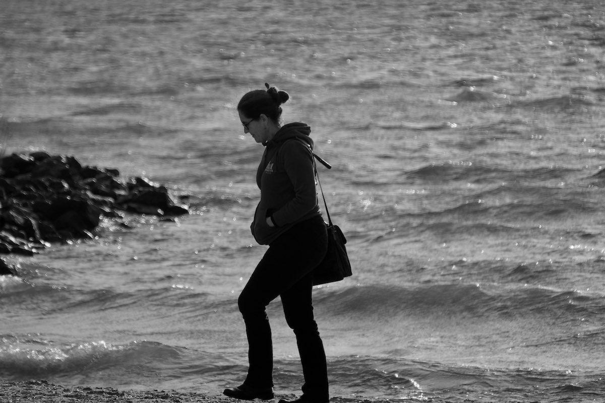 Abi on the beach at Urk