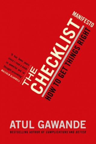 Cover of The Checklist Manifesto by Atul Gawande
