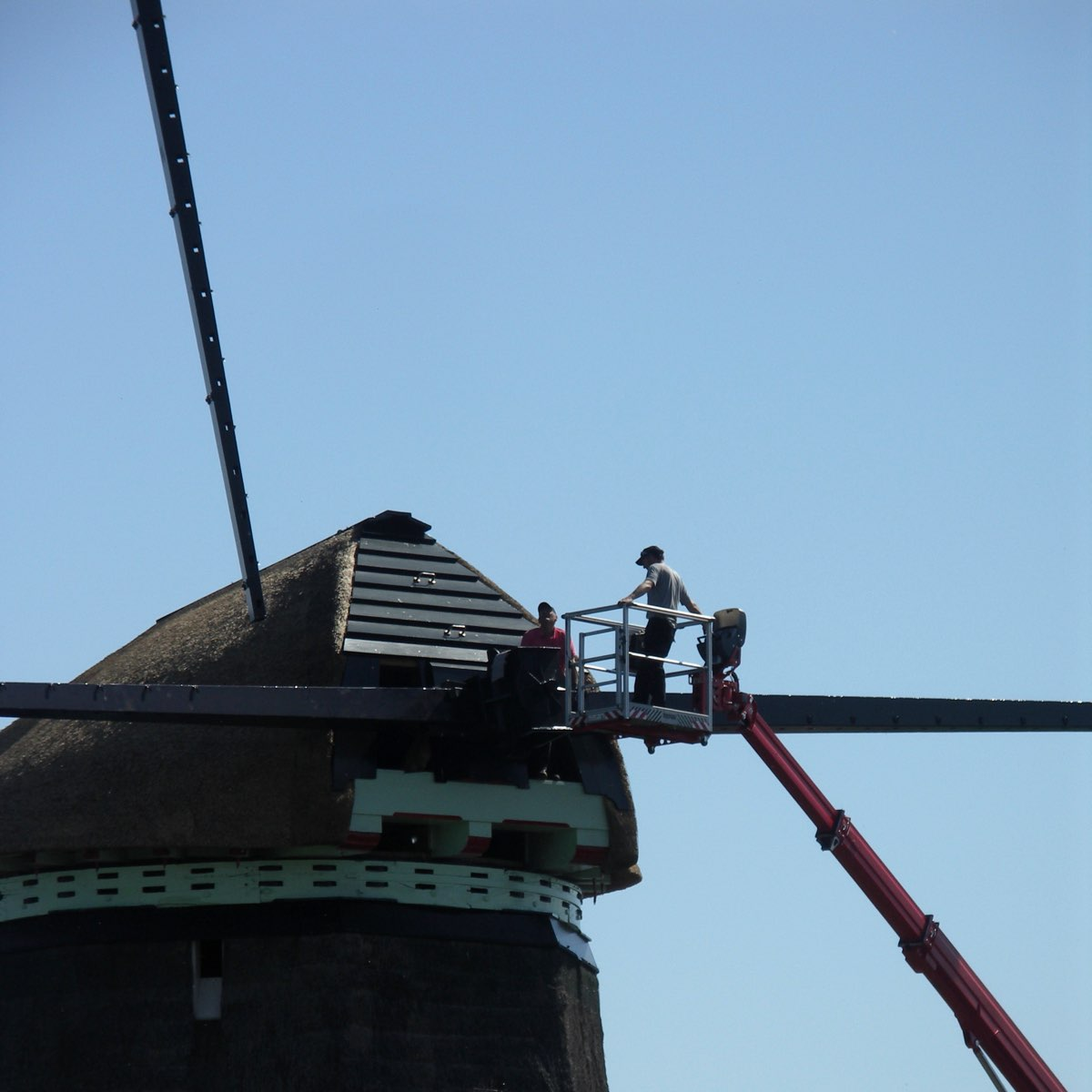 twiskemolen second blade dropping into position